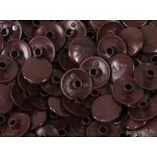 Заглушка для конфірмату пластикова темно-коричнева