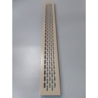 Алюмінієва решітка 480*60мм колір RAL7006