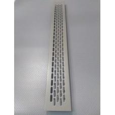 Алюмінієва решітка 480*60мм колір RAL7039