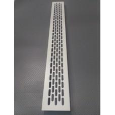 Алюмінієва решітка 480*60мм колір RAL9002