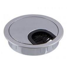 Заглушка для кабелю металева хром