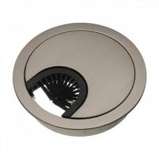 Заглушка для кабелю металева сатін